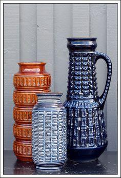 1x Sheurich, 2x Carsten Glass Ceramic, Ceramic Clay, Ceramic Pottery, Pottery Art, Keramik Vase, Contemporary Ceramics, Pottery Studio, Vintage Pottery, Bolognese