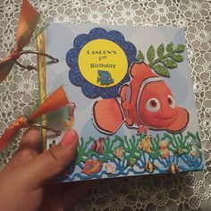 Made this cute little chipboard álbum of # finding #findingnemo #album #invitationsbymarisol #handmadeinvitations  #handcraftedinvitations #uniqueinvitations #kidsinvitations #chipboard #chipboardbooks #chipboardbooks