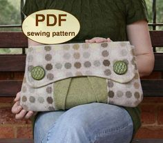 Sewing pattern to make the Casablanca Clutch Bag  by charliesaunt, $9.00