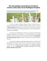 Fue Presentada Acusación Por Lavado de Activos Contra Hijos de Los Rodríguez Orejuela