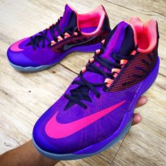 a93f5bbfd9a Nike Zoom Run The One EP James Harden Purple Pink 2014 Mens Basketball Shoes