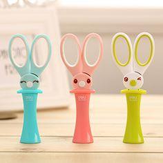 Buy Cute Kawaii Plastic Scissors Lovely Rabbit Safety Scissors For Kids Gift School Supplies Student Stationary Store, Cute Stationary, School Stationery, Kawaii Stationery, Work Desk Organization, Craft Room Desk, School Suplies, Unicorn Fashion, Cute Pens