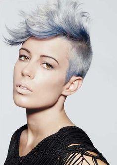 12 prachtige kapsels met grijs, kort haar.. dé trend van deze zomer! - Kapsels voor haar