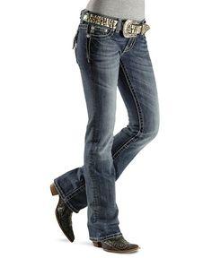 Miss Me Jeans     Miss Me Jeans - Studded Zebra Pattern Boot Cut