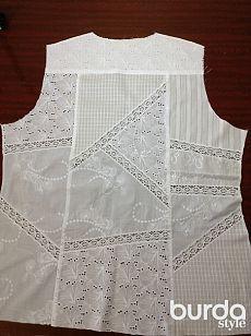 Блузка из батиста Пристраиваем остатки ткани.