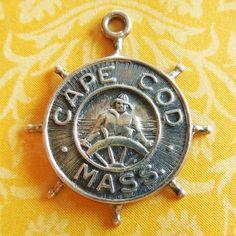 Vintage Cape Cod Massachusetts Fisherman Sterling Silver Charm by Bates & Klinke B&K