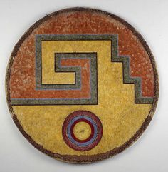 Aztec feather shield, Mexico, before 1521.
