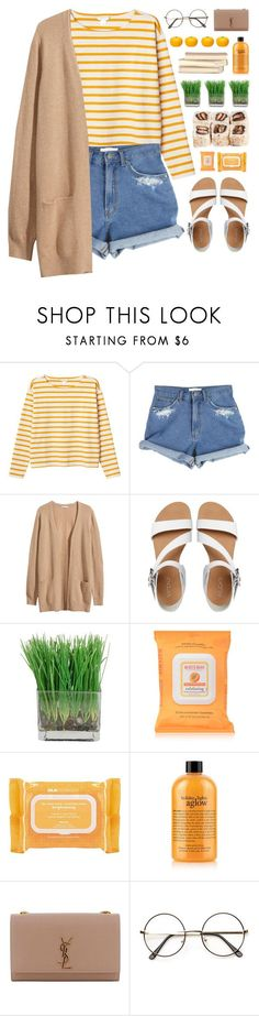 """""""Honeysuckle"""" by vip-beauty ❤ liked on Polyvore featuring Monki, H&M, ALDO, Burt's Bees, Ole Henriksen, philosophy, Yves Saint Laurent, ZeroUV and Tony Moly"""