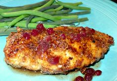 Mustard Chicken with Lingonberry Sauce