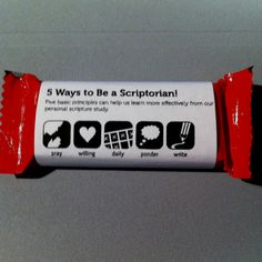 Scripture reading handout How cute with a Take5 candy bar Take 5 minutes o study The Book Of Mormon