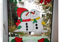 Glass, Door, Wall Decorations – Preschool Activity Time - New Deko Sites Christmas Door, Christmas Crafts, Christmas Decorations, Xmas, Christmas Ornaments, Holiday Decor, Wall Decorations, Winter Crafts For Kids, Window Art