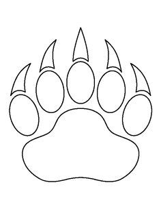 Bear paw print pattern. Use the printable outline for crafts, creating stencils, scrapbooking, and more. Free PDF template to download and print at http://patternuniverse.com/download/bear-paw-print-pattern/