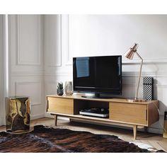 Massief eikenhouten tv-meubel B 160 cm Portobello   Maisons du Monde