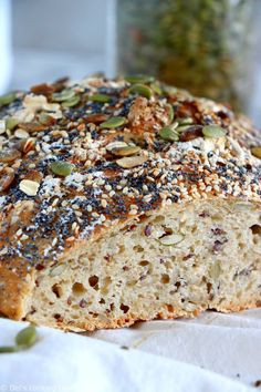 bread recipes easy no yeast - bread recipes ; bread recipes easy no yeast ; bread recipes no yeast ; bread recipes without yeast ; Knead Bread Recipe, No Knead Bread, Yeast Bread, Bread Baking, Multigrain Bread Recipe, Cooking Bread, Bread Food, Keto Bread, Bagel Pizza