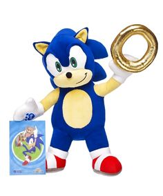 Sonic the Hedgehog Build-a-Bear Plush Now Available  Build-A-Bear Workshop is now selling a Sonic the Hedgehog plush.  The soft cuddly Sonic toyis a web exclusive and he comes with a gold ring accessory and 4-by-6-inch print. Unlike other Build-A-Bear products Sonic also comes pre-stuffed and costs $35.   Build-A-Bear Workshop is offering this Sonic the Hedgehog plush for $35 online.  Continue reading  https://www.youtube.com/user/ScottDogGaming @scottdoggaming