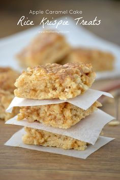 Apple Caramel Cake Rice Krispie Treats