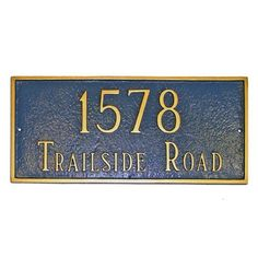 Montague Metal Products Estate Classic Rectangle Address Plaque Finish: Taupe / White, Mounting: Wall