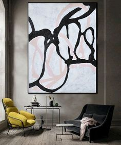 Oil Painting Large Abstract Art Hand Painted by FabuArtDecor www.etsy.com