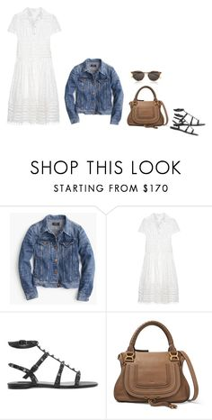 """""""Untitled #4931"""" by mrs-box ❤ liked on Polyvore featuring J.Crew, Zimmermann, Valentino, Chloé and Yves Saint Laurent"""