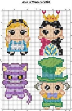 alice perler bead pattern - - Yahoo Image Search Results