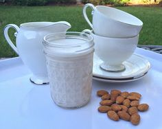 Learn how to easily make Homemade Almond Milk Coffee Creamer and Half & Half. Step by step, we walk you through the process! #almondmilkcremer #platesavvy #drinksavvy #almondmilk #almondmilkhalfandhalf http://blog.platesavvy.com/2015/08/homemade-almond-milk-coffee-creamer-and.html