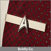 Boldly go with this Star Trek tie clip that humbly places you among the elite commanders of Starfleet. Perfect for a Father's Day gift for your favorite Captain.