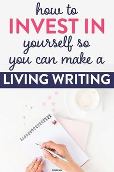 Want to make a living writing? Learn how to invest in yourself so you CAN make a living as a writer or freelance writer. Learn the steps to invest in you for the new year and work from home. Creative Writing, Writing Tips, Writing Prompts, Writing Resources, Online Writing Jobs, Freelance Writing Jobs, Online Jobs, Business Motivation, Business Tips