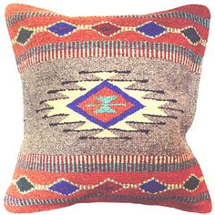 NOMAD RUSTIC WOVEN NATIVE GEOMETRIC PILLOW