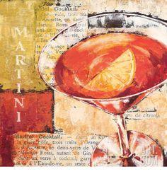 Martini Cocktail Art Print by Stefania Ferri at Art.com