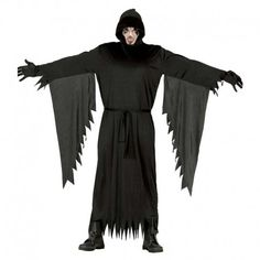 Disfraces Halloween hombre | Disfraz de Scream sin careta. Contiene túnica con capucha y mangas con colgantes de harapos. Talla M/L. 14,95€ #scream #disfrazscream #disfraz #halloween #disfrazhalloween #disfraces