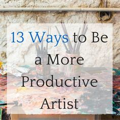 I recently asked the artists that follow TAA on social media for their tips on how to be more productive & efficient in the studio. We got some GREATanswers and inspired tons of really fun discussion. Why Does Productivity Matter? Why does productivity and efficiency even matter? Doesn't thinking like that get in the way …