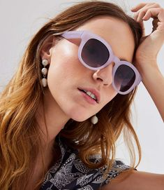 Iridescent Round Sunglasses