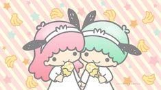 Little Twin Stars Wallpaper 2020 二月桌布 日本官方Twitter香蕉雪糕版 Little Twin Stars, Star Wallpaper, Iphone Wallpaper, Sanrio, Apple Watch Faces, Most Beautiful Wallpaper, Great Backgrounds, Kokeshi Dolls, Tea Party