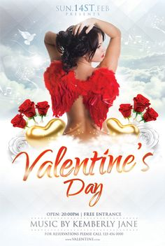 Open your love heart in front of your Valentine, here is special Valentines Day Flyer Templates to host a Valentines day night party. Valentine Special, Valentines Day, Club Poster, Flyer Template, Wall Design, Color Change, Templates, Party, Ideas