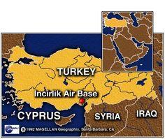 Base aérea americana em Incirlik,na Turquia. Deve ser usada para bombardear o EI na Síria.