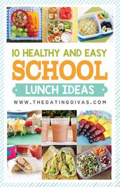 10 Healthy and Easy School Lunch Ideas