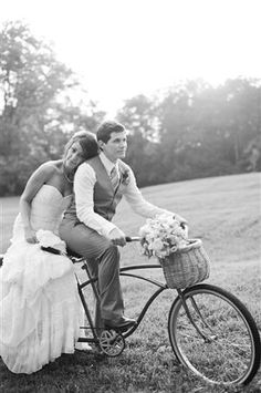A Bicycle Built for Two                        #bicyclewedding #cycling #wedding