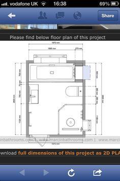 Wet room plan from website