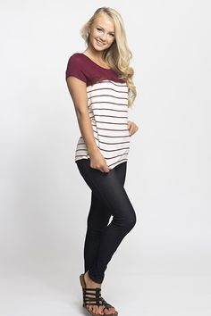 Striped Emily Tops | Jane