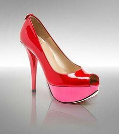 Stuart Weitzman red n pink pump