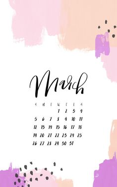 Cozy up your mobile or desktop backgrounds with these free digital wallpapers, featuring our abstract paint and lettering designs! Perfect way to have a calendar on you at all times.
