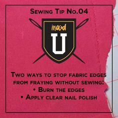 #moodsewingtip for fabric edges! #justkeepsewing #MoodU