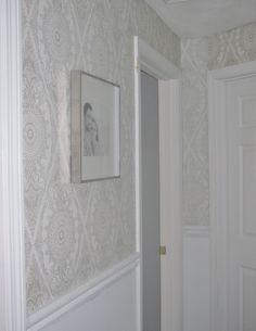 Deirdre Desrosiers Interiors: Wallpaper in Hallway