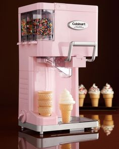 Ice cream machine. Need this. Seriously. My kids would go nuts!