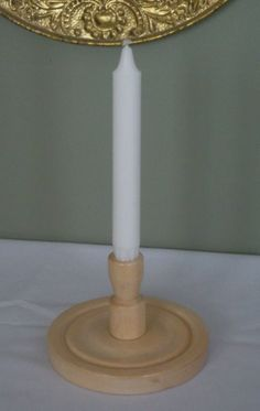 Turned Wooden Candle Holder