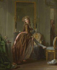 Young woman at her toilette in a boudoir by Michel Garnier (1753-1819). Paris: Galerie Coatalem
