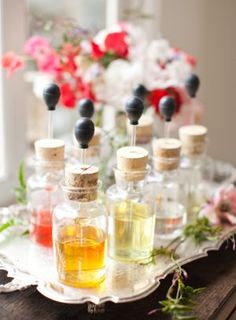 Try a custom perfume bar for your bridal shower