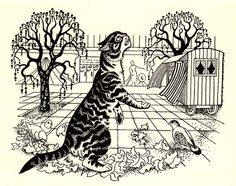 Dogs: A Poem by T. Eliot, with Stunning Vintage Illustrations by Dame Eileen Mayo – Brain Pickings Cat Vs Dog, Illustration Art, Vintage Illustrations, Cool Cats, Cat Art, Cats And Kittens, Illustrators, Drawings, Dogs