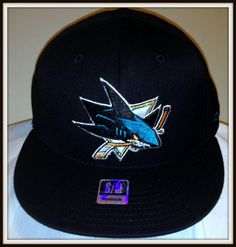 SAN JOSE SHARKS REEBOK FLAT BRIM ADULT S/M FLEX FIT CAP HAT NEW WITH TAGS #Reebok #SanJoseSharks