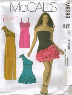 From UK Sewing Pattern Evening Dress 14-20  #6283